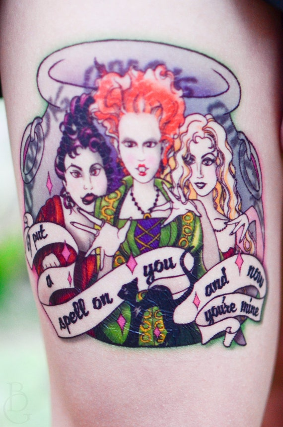 I put a spell on you temporary tattoo for What do you put on a tattoo