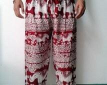 Best Seller Elephant Thai Harem Pants,Yoga Pants,Aladin Pants, Baggy Boho Hippie Gypsy Clothing Beach Women Baggy Casual Man/Women Pants