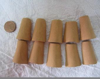 terracotta, handmade tegolino 10 batch. 3 cm x 2 cm
