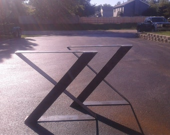 Metal Zig Zag Table/Desk Legs HD Style - Any Size/Color!