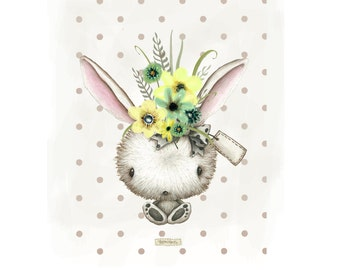 Cute Bunny Rabbit Art