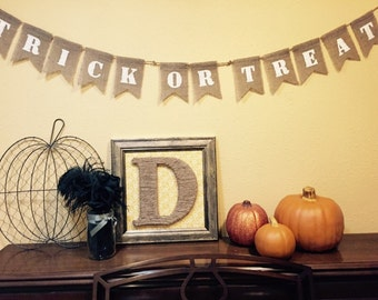 Trick-or-Treat Banner (Black or white letters)