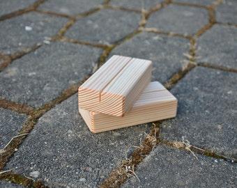Wood Place Card Holders for Weddings, DIY Rustic Wood Table Number Holders, Cafe or Restaurant Menu Holder, Business Card Holder