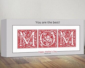 Personalized Mother's Day Canvas Print, Mom Sign Wall Art, Wall Sign Mother Sign Wall Decor, Custom Mom Gift, Mother's Day Gift for Mom Gift