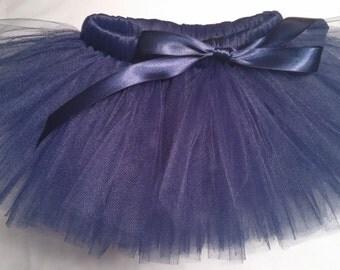 Navy Blue Tutu, navy blue baby tutu, baby tutu, infant tutu, toddler tutu, newborn tutu, wedding tutu, flower girl tutu, preemie tutu, tutu