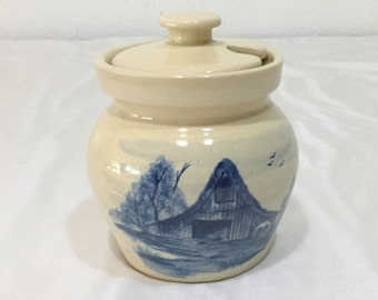Paul Storie Pottery Marshall Texas Barn Jar with Lid