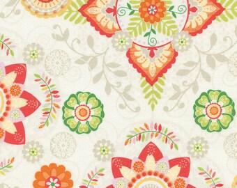 Floral Medallions Cotton Fabric C4314; Fat Quarter, Half Yard, or By-The-Yard; Timeless Treasures; Boho Safari