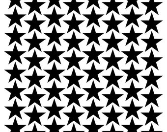 96 vinyl Stars-Choice of Size and Color