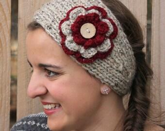 Knitted Ear warmer, Knit Headband, Wool Ear warmer, warm headband, women's earwarmer, women's headband