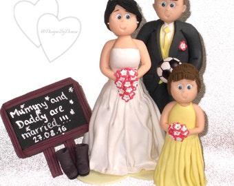 Personalised Wedding Cake Topper Handmade Bride Groom Children Family Pets Personalized Wedding Cake Figurines Bespoke Wedding Cake Decor