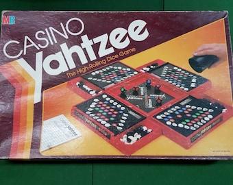 Casino Yahtzee - Dice Game from Milton Bradley 1986 COMPLETE, Vintage Board Game, Yahtzee Dice Game