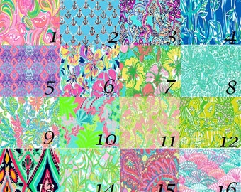 "12""x12"" - 12""x24"" Lilly Pulitzer Vinyl Sheets Printed and MATTE FINISH Non Laminated"