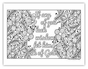 "2017 Mutual Theme Coloring Page 8.5""x11"" - Flower Border"