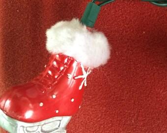 Christmas Tree Lights ice skates figure skates red