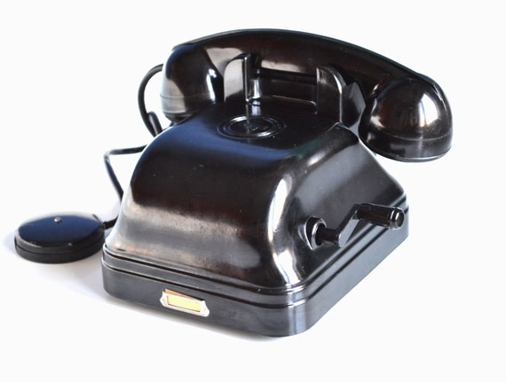 Reserved For K A Vintage Bakelite Telephone By Oldschoolvibes