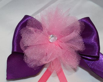 Purple and Pink Hair Bow