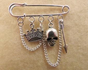 Shakespeare Hamlet kilt pin brooch (50 mm)