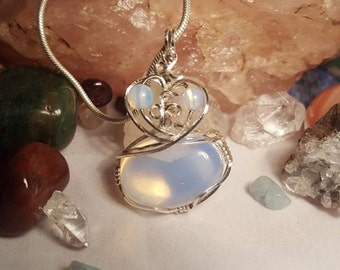 Dreams - Artisan Sterling Silver Wire Wrapped Opalite