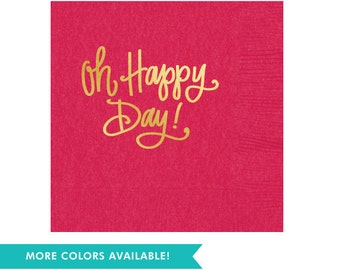 Oh Happy Day! Napkins (Qty 25)