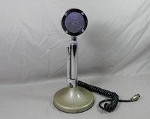 Vintage Astatic D 104 UG8 Base Microphone CB HAM Radio 5-Pin Lolipop Mic Retro