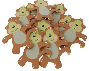 Monkey Animal Wooden Baby Favors, 5-inch, 10-Piece