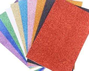 Glitter EVA Foam Sheet, 13-Inch x 18-Inch, 10-Piece
