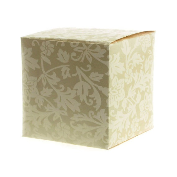Damask Wedding Favor Boxes : Damask embossed favor boxes inch piece square