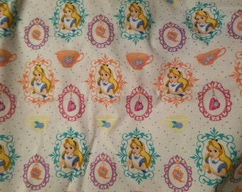 Alice in Wonderland  100% Cotton Fabric by the yard