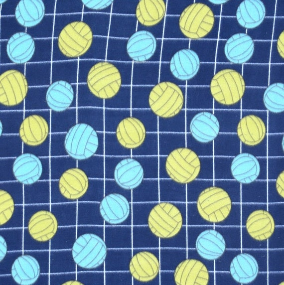 volleyball fleece fabric by the yard by reneeschoicefabrics. Black Bedroom Furniture Sets. Home Design Ideas