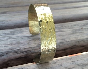 Thin Hammered Brass Cuff Bracelet for Petite to Large Wrists     Customized Brass Bracelet   Polished Brass Bracelet   Elegant Brass Cuff