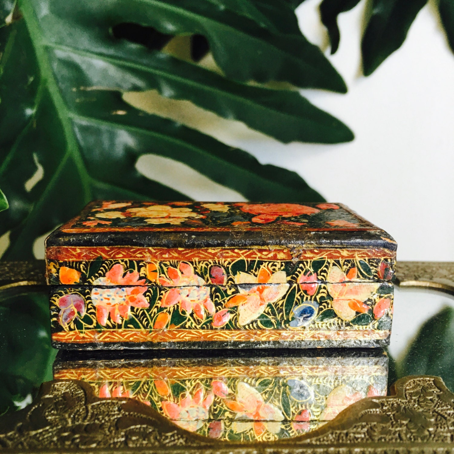 Antique floral jewelry box from fengsway on etsy studio for Just my style personalized jewelry studio