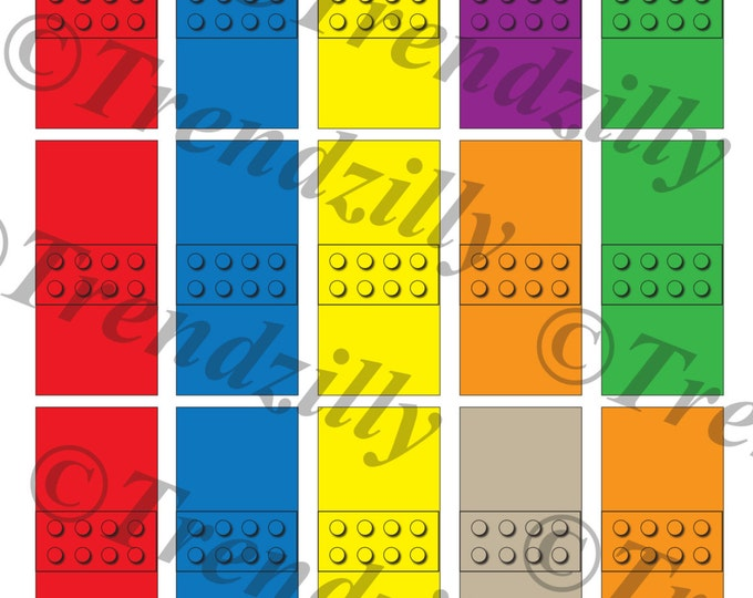 Interlocking Building Block Candy Wrappers, Mini Candy Bar Wrappers, Building Brick Candy Wrappers, Party Favor Props, Printable Download.