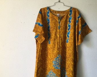 Vintage Dress - Batik Cotton Maxi