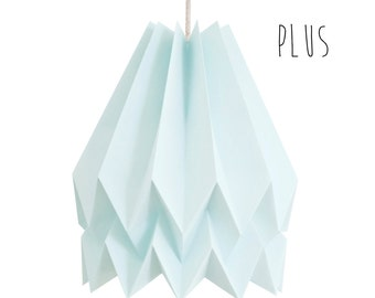 Paper Lamp, Hanging Lamp, Origami Light for living room or bedroom | PLUS Plain Mint Blue | Design Lamp | FREE SHIPPING*