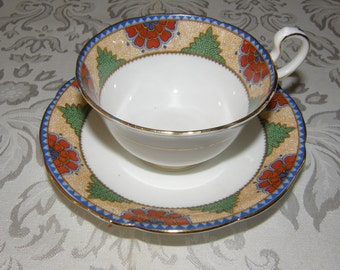 Unique Art Deco Aynsley Tea Cup Duo
