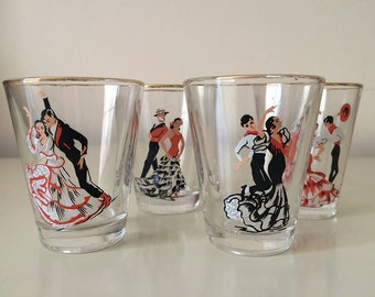 Vintage set of shot glasses