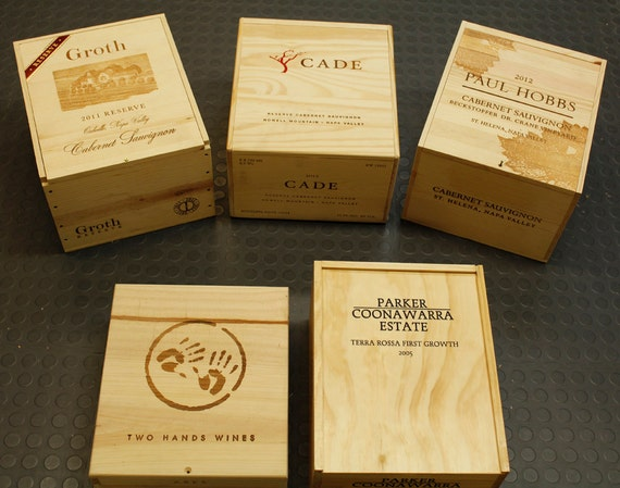 Wood wine crates with lids difficult to find by avintagehome for Where to buy used wine crates