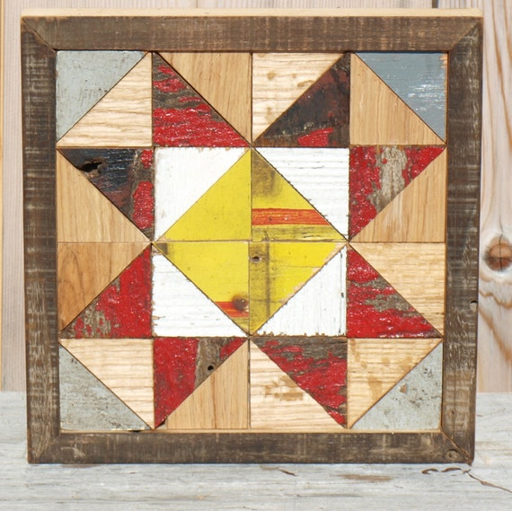 wooden barn quilt mosaic quilt block quilt by ...