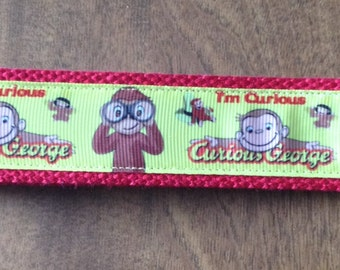 Curious George wristlet key fob holder, Zipper Pull Key Chain
