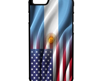 Argentina Flags 3 Design Variations iPhone Galaxy Note LG HTC Hybrid Rubber Protective Case
