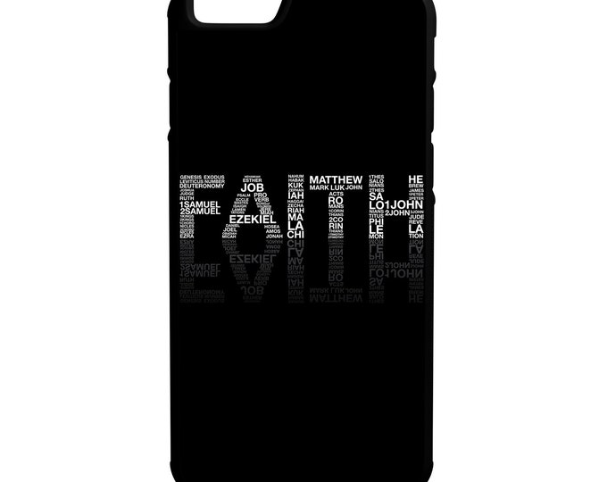 Faith Bible Scriptures iPhone Galaxy Note LG HTC Hybrid Rubber Protective Case Christian