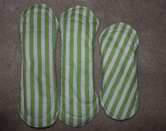 Green & white stripes