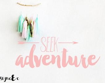 Wall Sticker - Seek Adventure