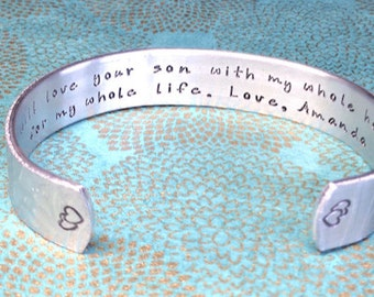 Mother of the Groom Gift | Mother of the Bride Gift | Mother in Law Gift | I will love your son with my whole heart for my whole life.