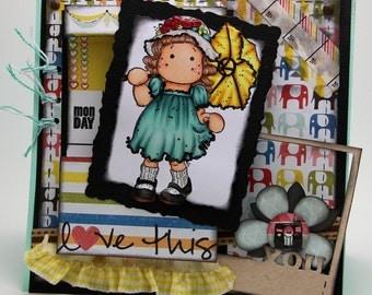 Umbrella girl card