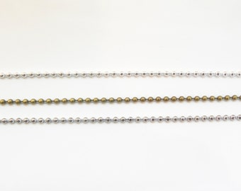 "Extra Chain Ball Chain 16"" 18"" 20"" 22"" or 24"""