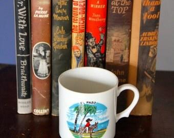 "Vintage Souvenir  1970's ""El Paso"" , Port Macquarie Australia China Pedestal mug"