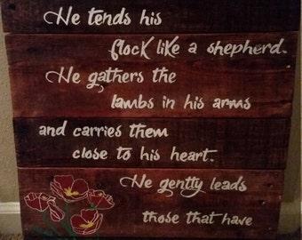 Custom Handmade Handpainted Wood Sign- Scripture