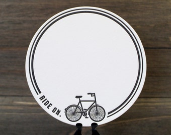 Ride On Letterpress Coasters