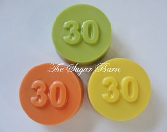 30th CHOCOLATE Covered OREO® COOKIES*12 Count*30th Birthday Party Favor*The Big 30*30th Anniversary Favor*Class Reunion Favor*Number 30
